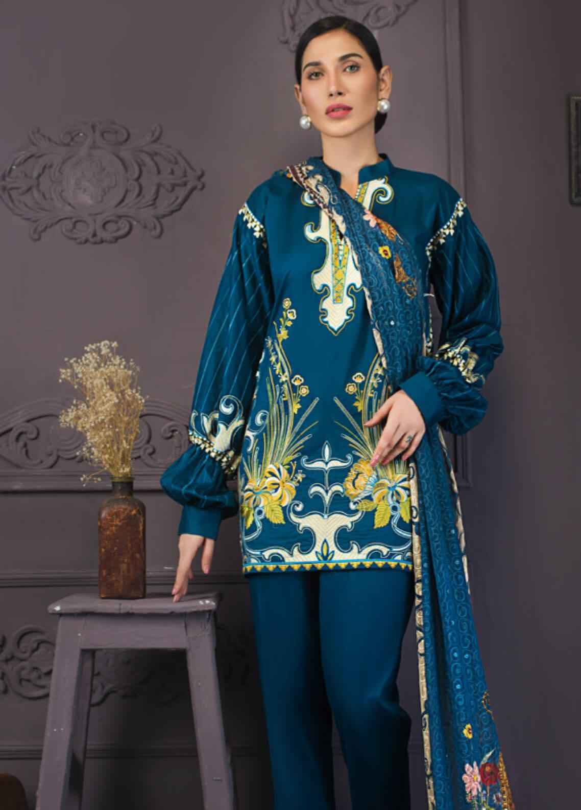 Kalyan By ZS Embroidered Lawn Unstitched 3 Piece Suit KLY19-F2 10 - Festive Collection