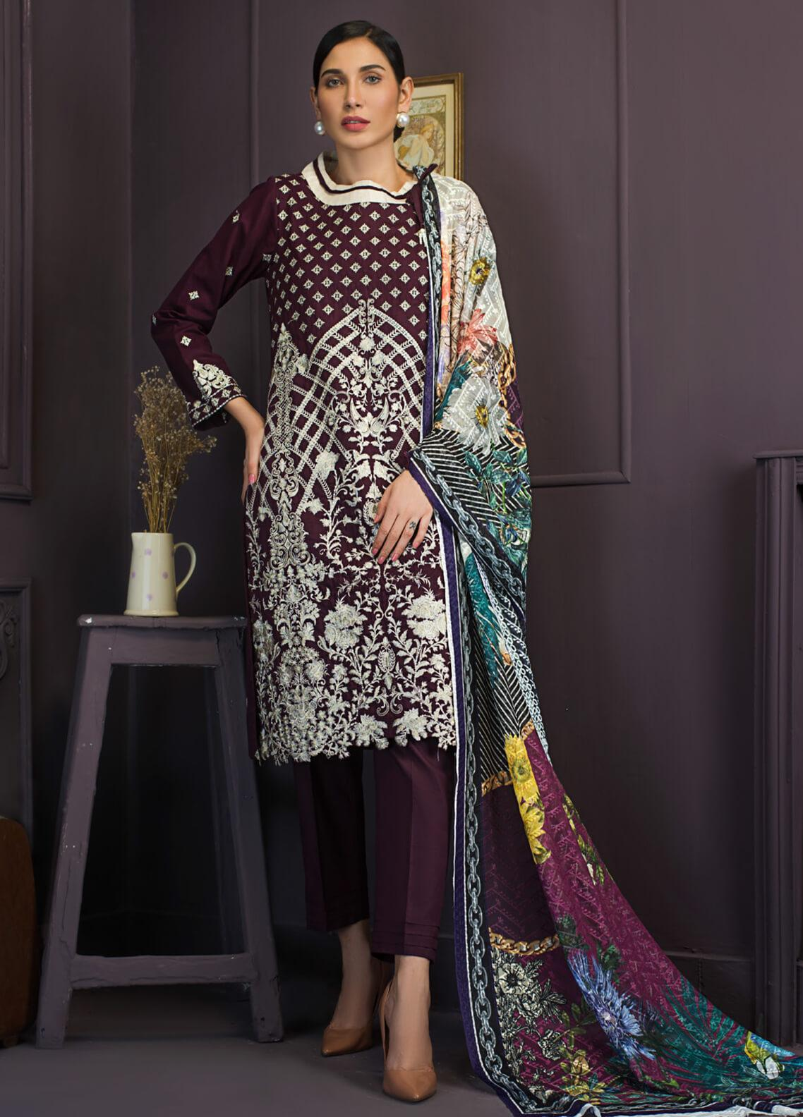 Kalyan By ZS Embroidered Lawn Unstitched 3 Piece Suit KLY19-F2 11 - Festive Collection