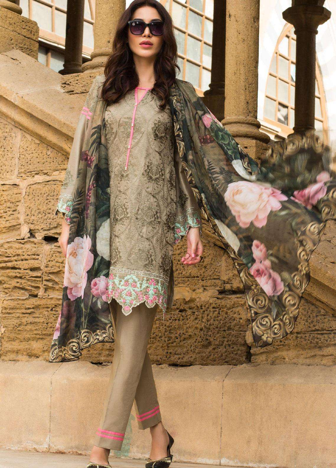 Kalyan By ZS Embroidered Lawn Unstitched 3 Piece Suit KLY19F 01 - Festive Collection