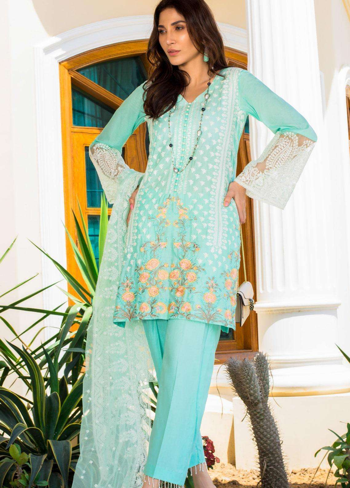 Kalyan By ZS Embroidered Lawn Unstitched 3 Piece Suit KLY19F 02 - Festive Collection