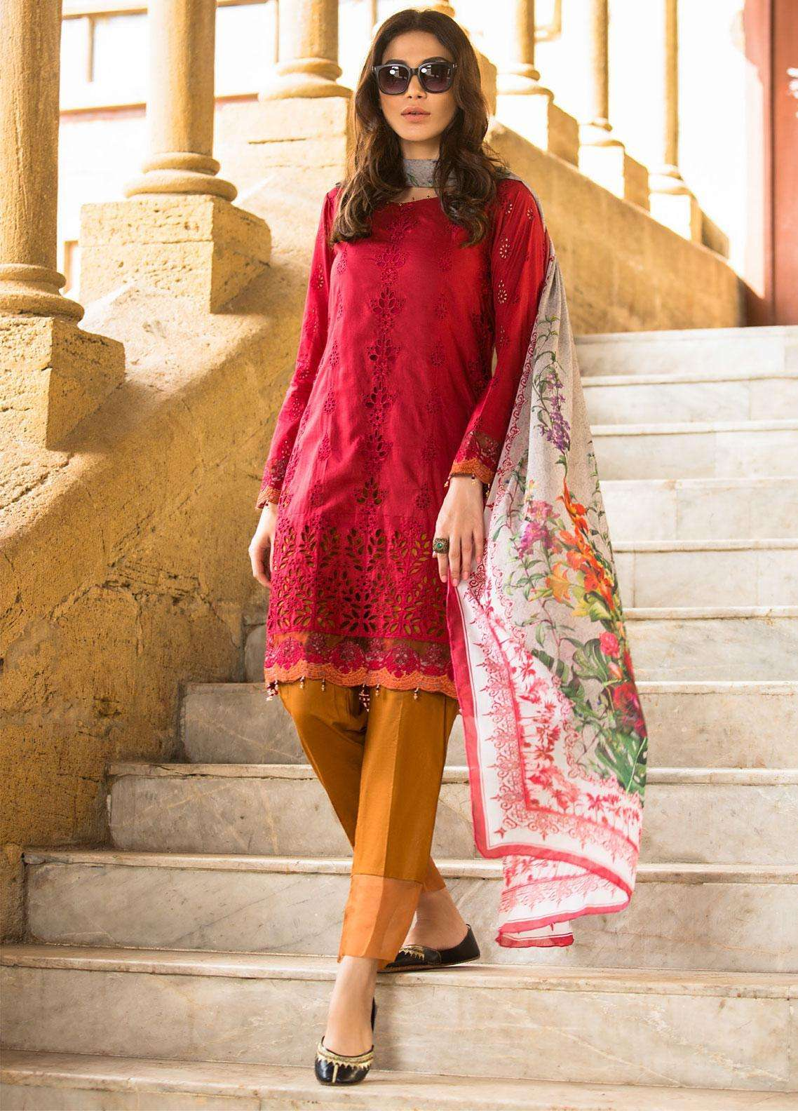 Kalyan By ZS Embroidered Lawn Unstitched 3 Piece Suit KLY19F 03 - Festive Collection