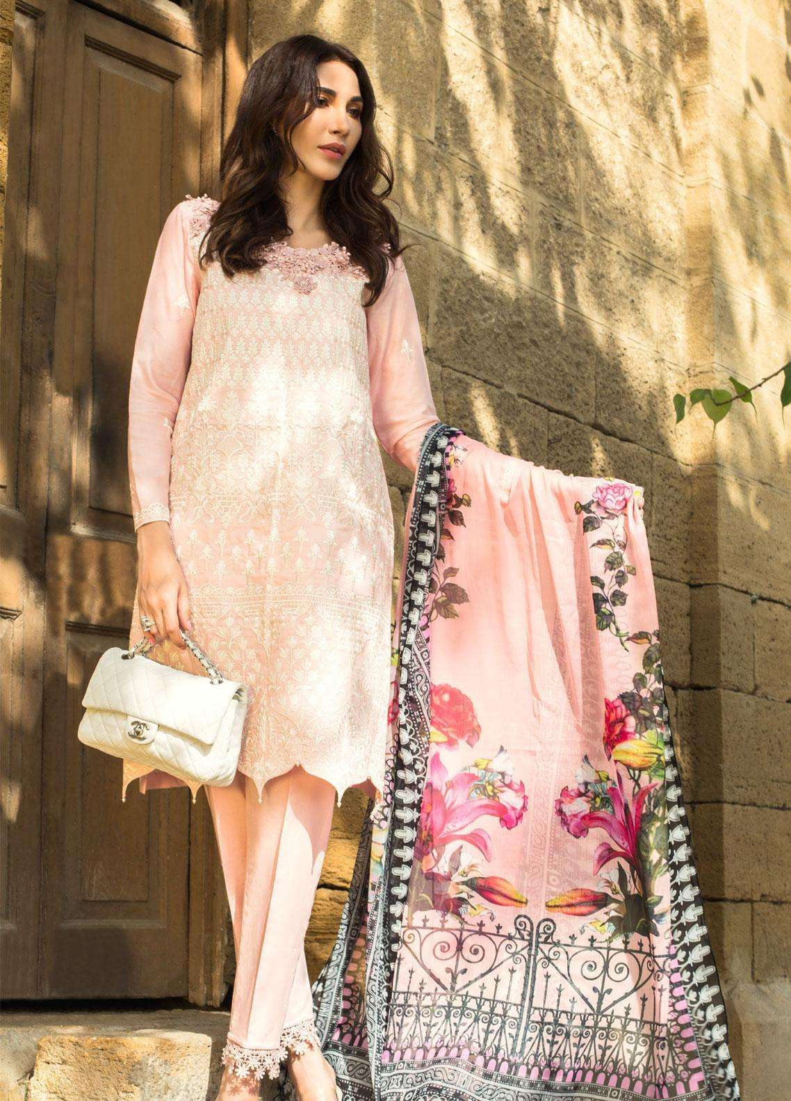 Kalyan By ZS Embroidered Lawn Unstitched 3 Piece Suit KLY19F 04 - Festive Collection