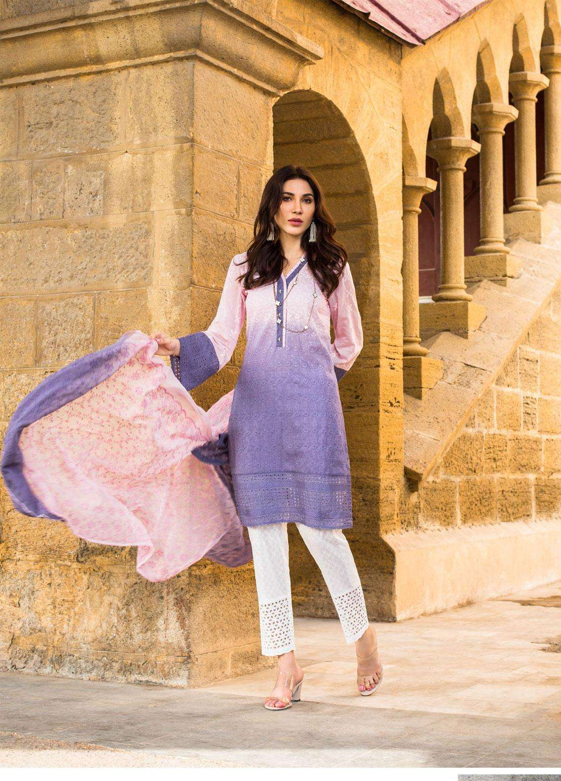 Kalyan By ZS Embroidered Lawn Unstitched 3 Piece Suit KLY19F 05 - Festive Collection