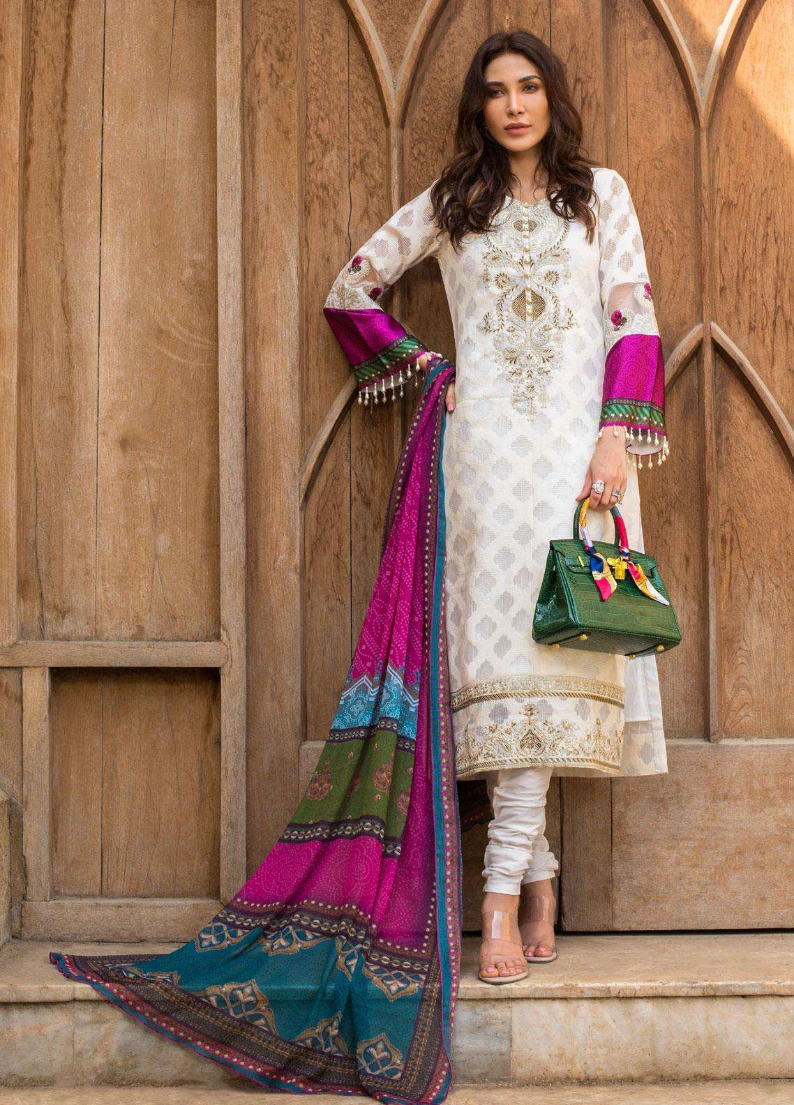Kalyan By ZS Embroidered Lawn Unstitched 3 Piece Suit KLY19F 06 - Festive Collection
