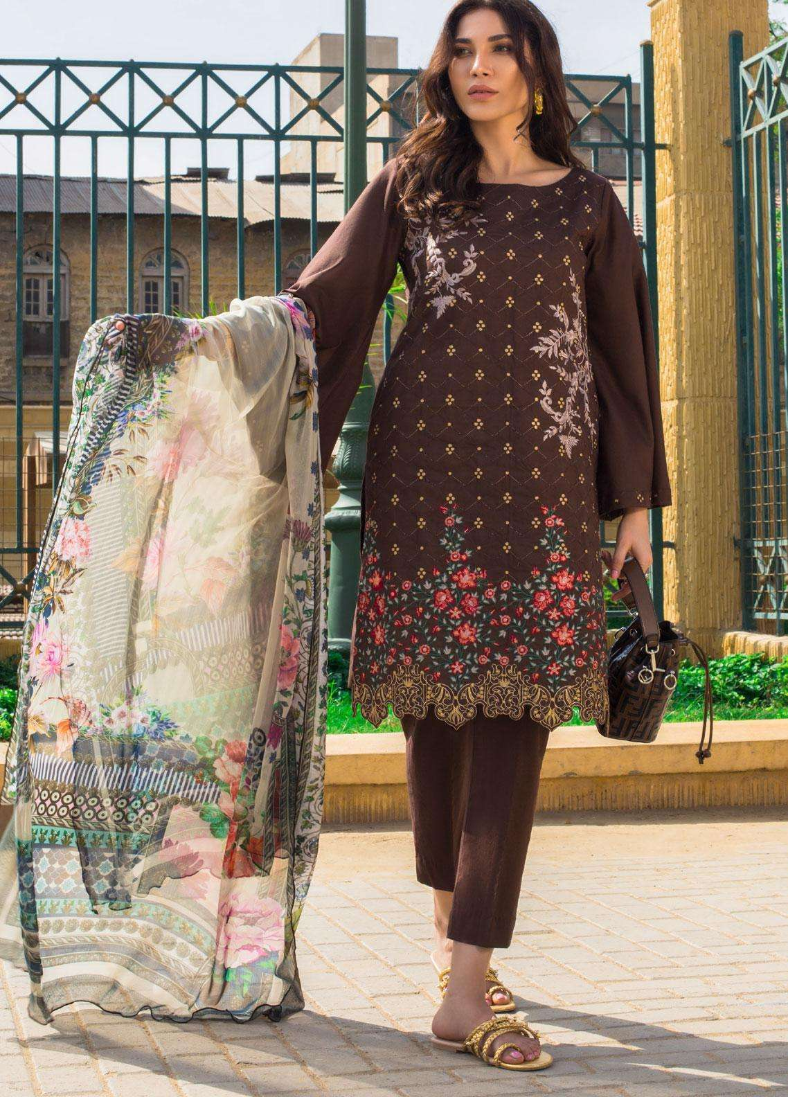 Kalyan By ZS Embroidered Lawn Unstitched 3 Piece Suit KLY19F 07 - Festive Collection
