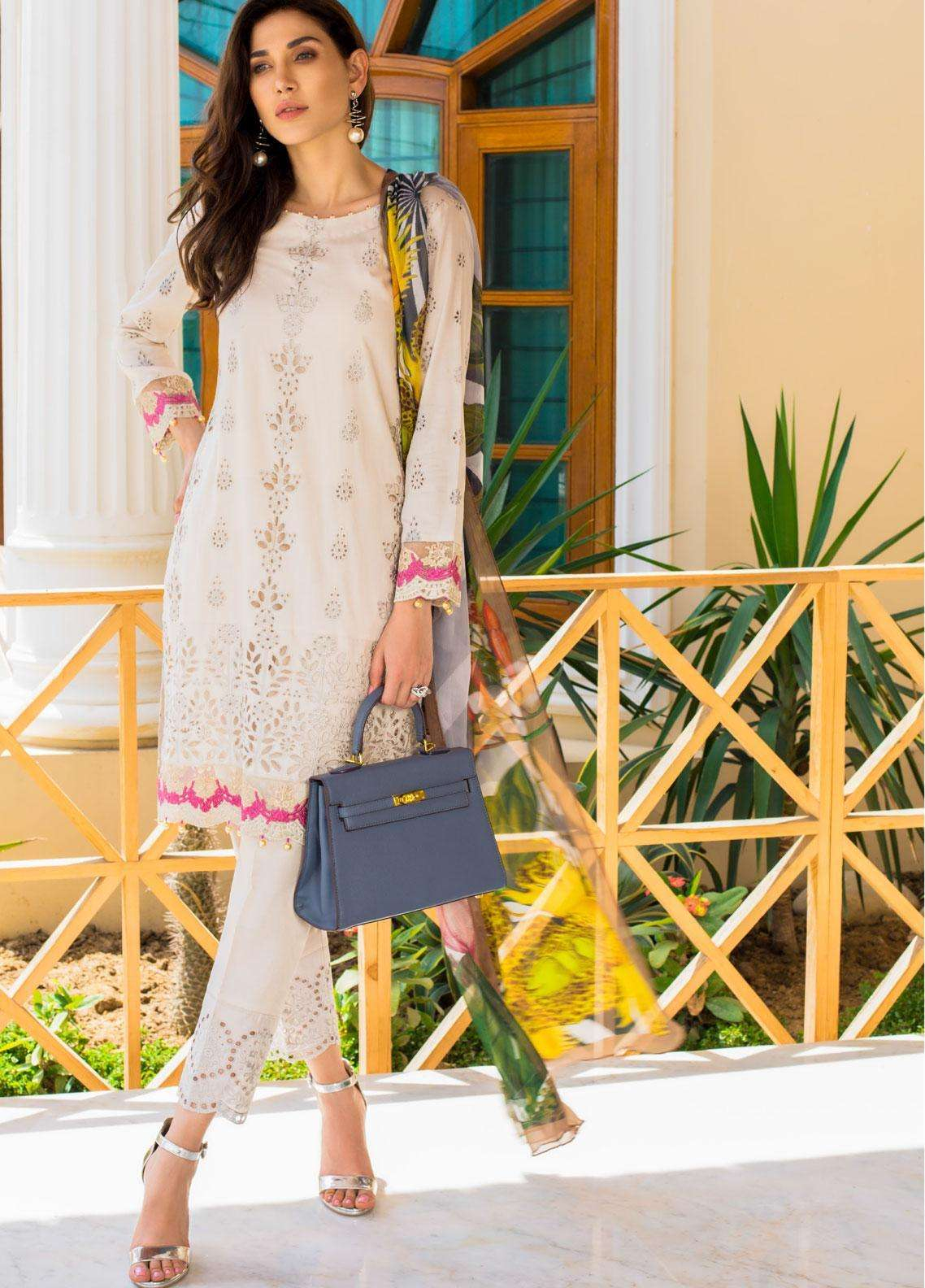 Kalyan By ZS Embroidered Lawn Unstitched 3 Piece Suit KLY19F 08 - Festive Collection