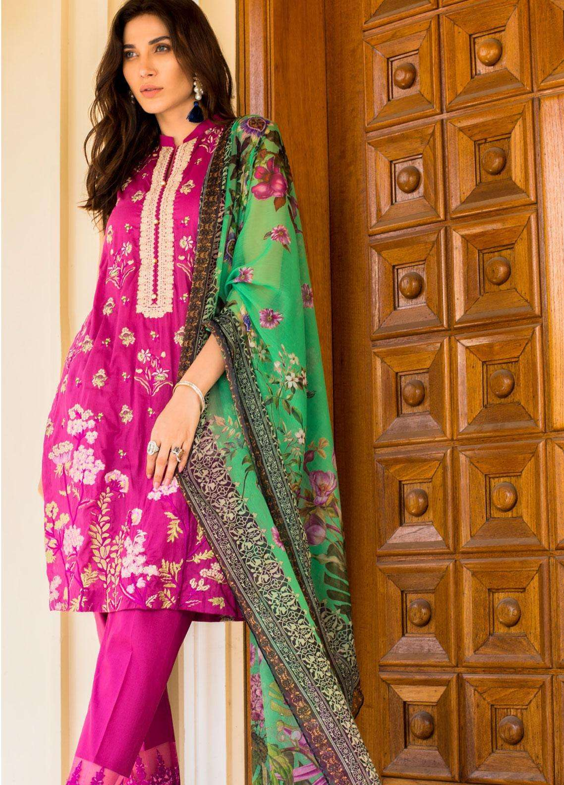 Kalyan By ZS Embroidered Lawn Unstitched 3 Piece Suit KLY19F 09 - Festive Collection