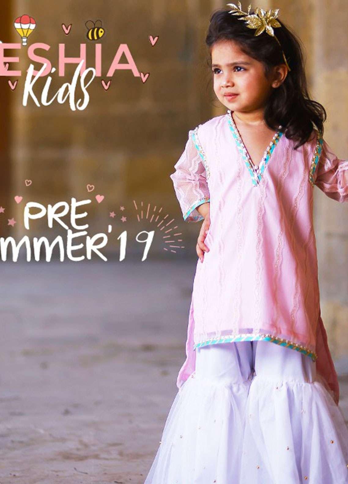 Keshia Zari Net Formal Girls Kurtis -  KD-012 Fuchsia