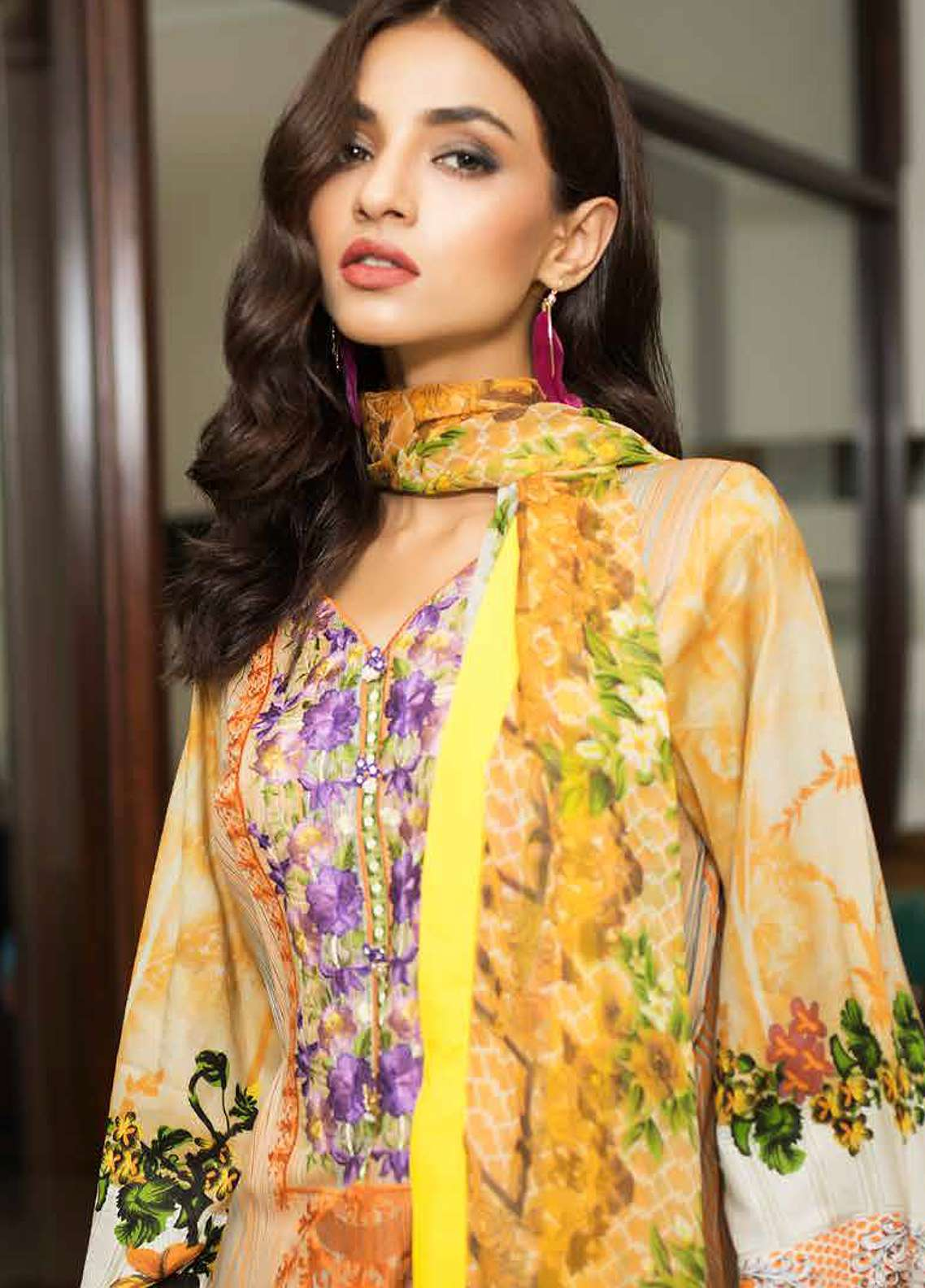 Khadjia Noor Embroidered Lawn Unstitched 3 Piece Suit KDN18L 3A - Summer Collection