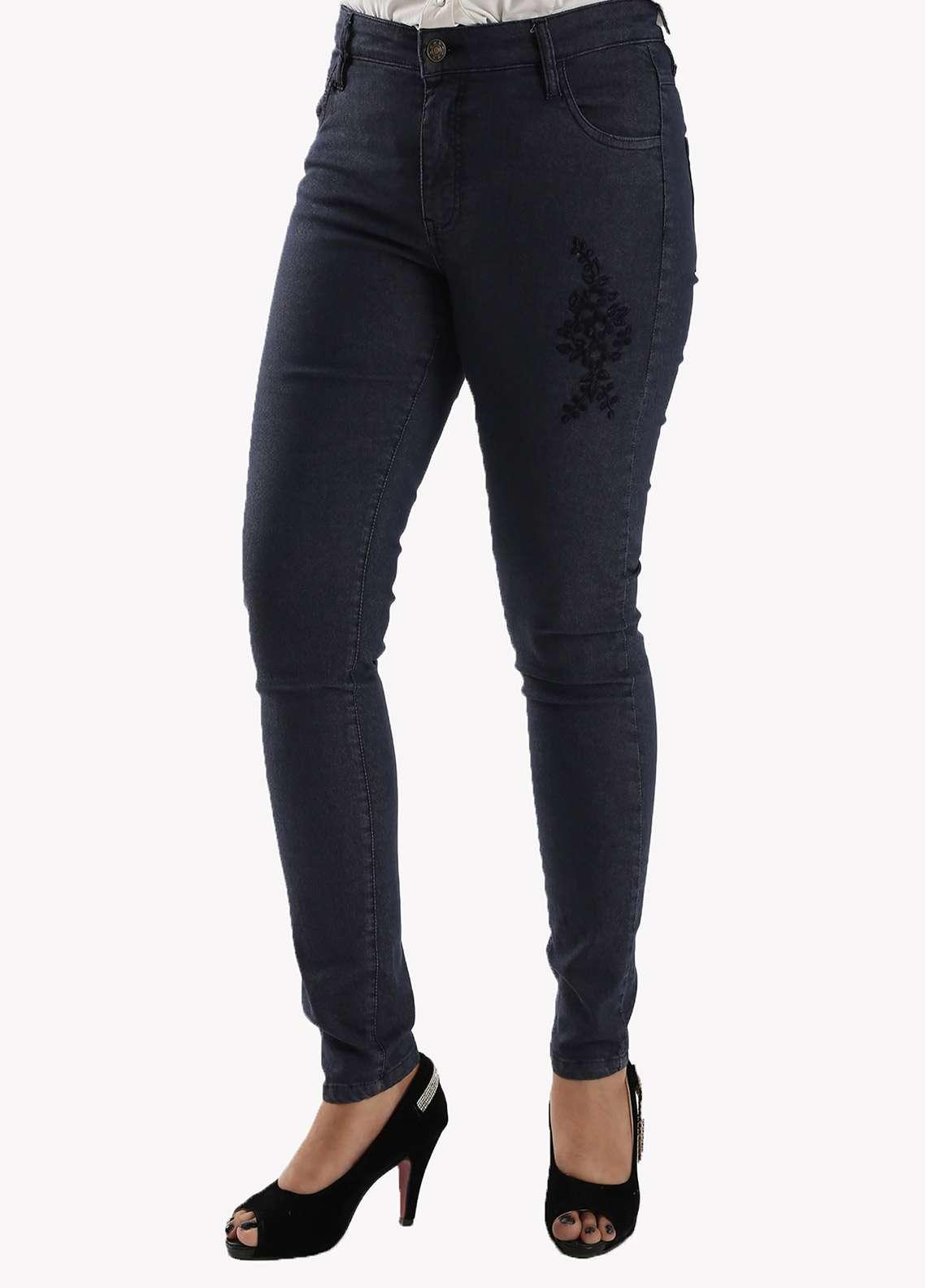 Bien Habille Ladies Jeans Skinny Fit Navy Blue