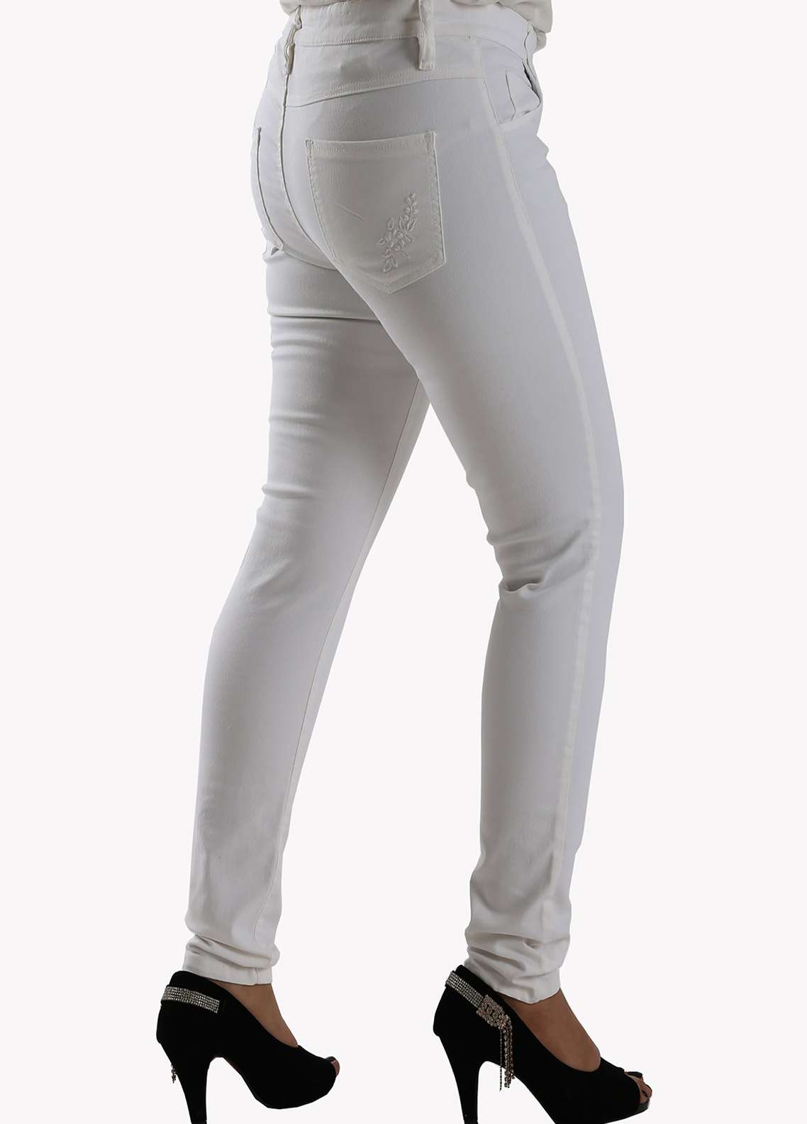 Bien Habille Ladies Jeans Skinny Fit White