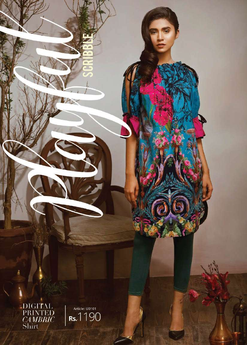 Lime Light Printed Cotton Unstitched Kurtis LL17M 101
