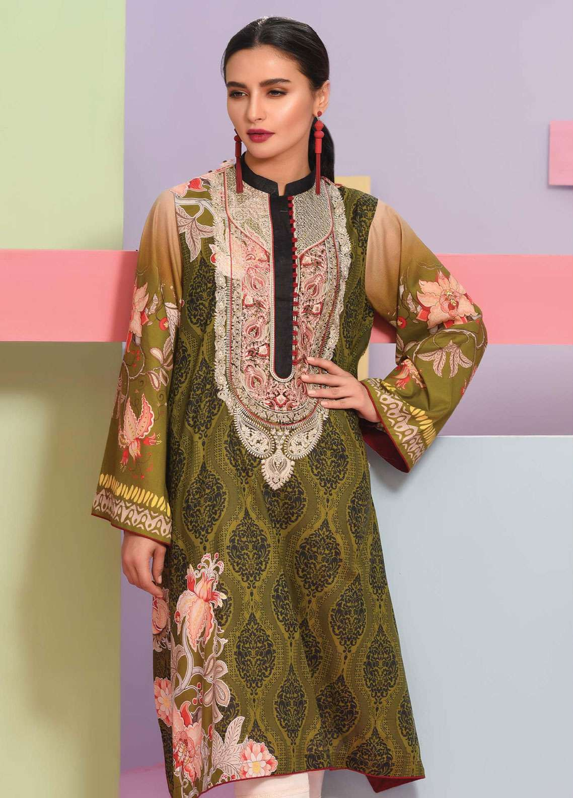 Lakhany Embroidered Lawn Unstitched Kurties LSM19K KK-4100 - Spring / Summer Collection
