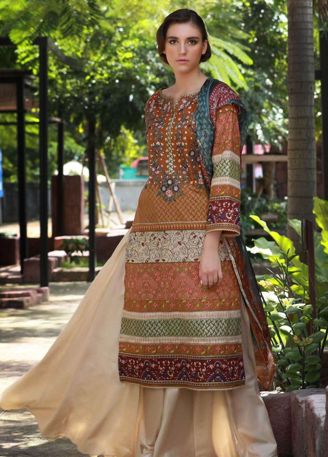 Lakhany Embroidered Cotton Cotel Unstitched 3 Piece Suit LSM18KN 513 - Luxury Collection