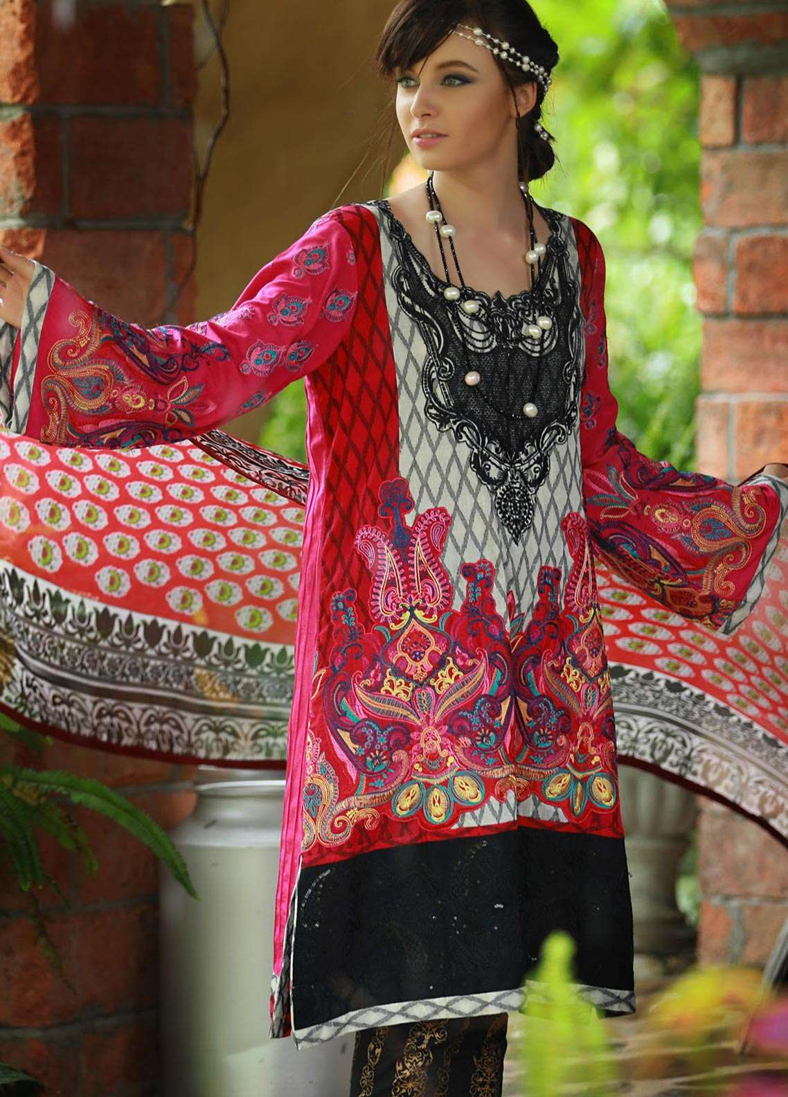 Lakhany Embroidered Pashmina Unstitched 3 Piece Suit LSM18KK 555 - Exclusive Winter Range