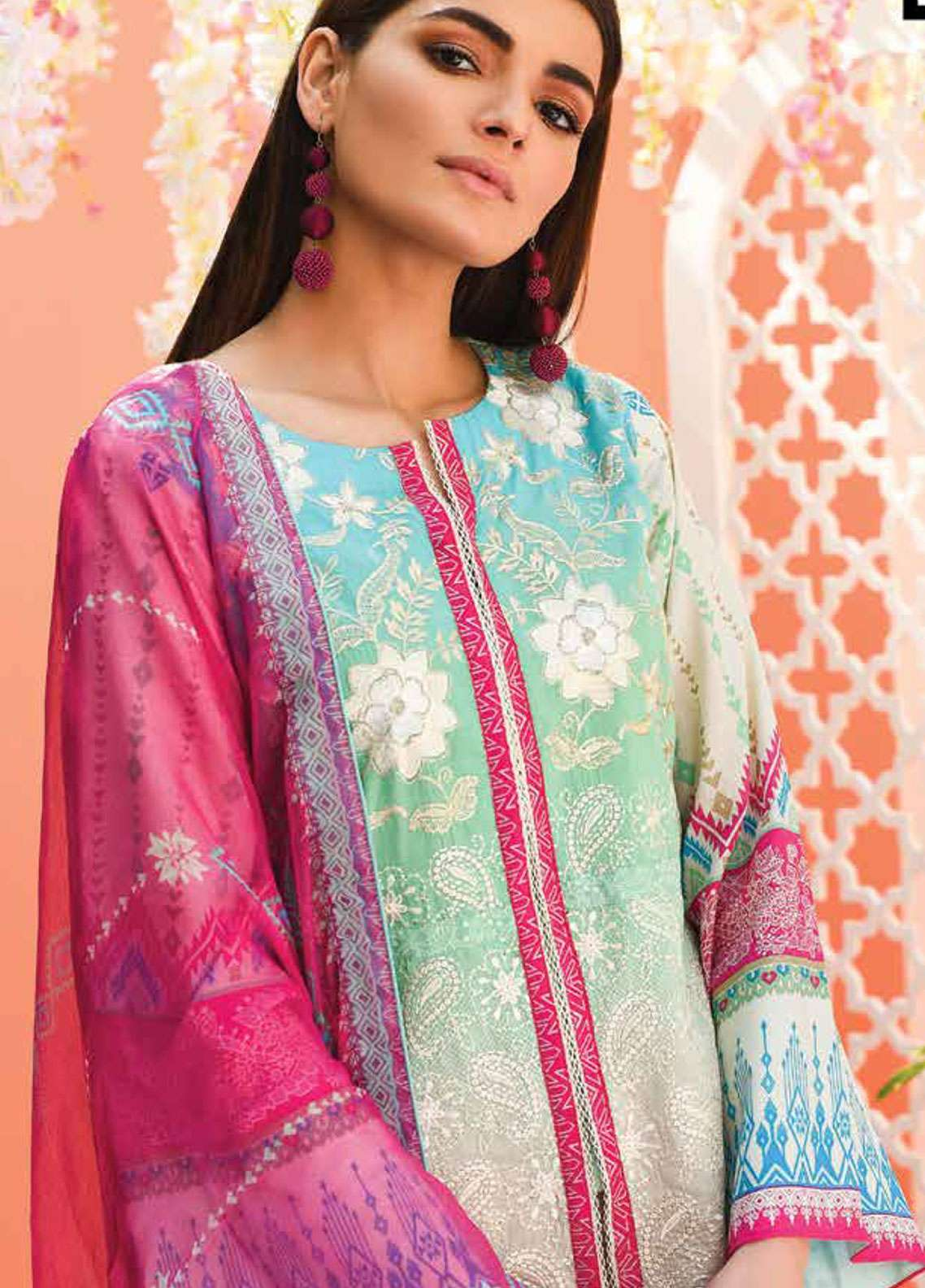 Lakhany Embroidered Lawn Unstitched 3 Piece Suit LSM19L LTD001 - Spring / Summer Collection