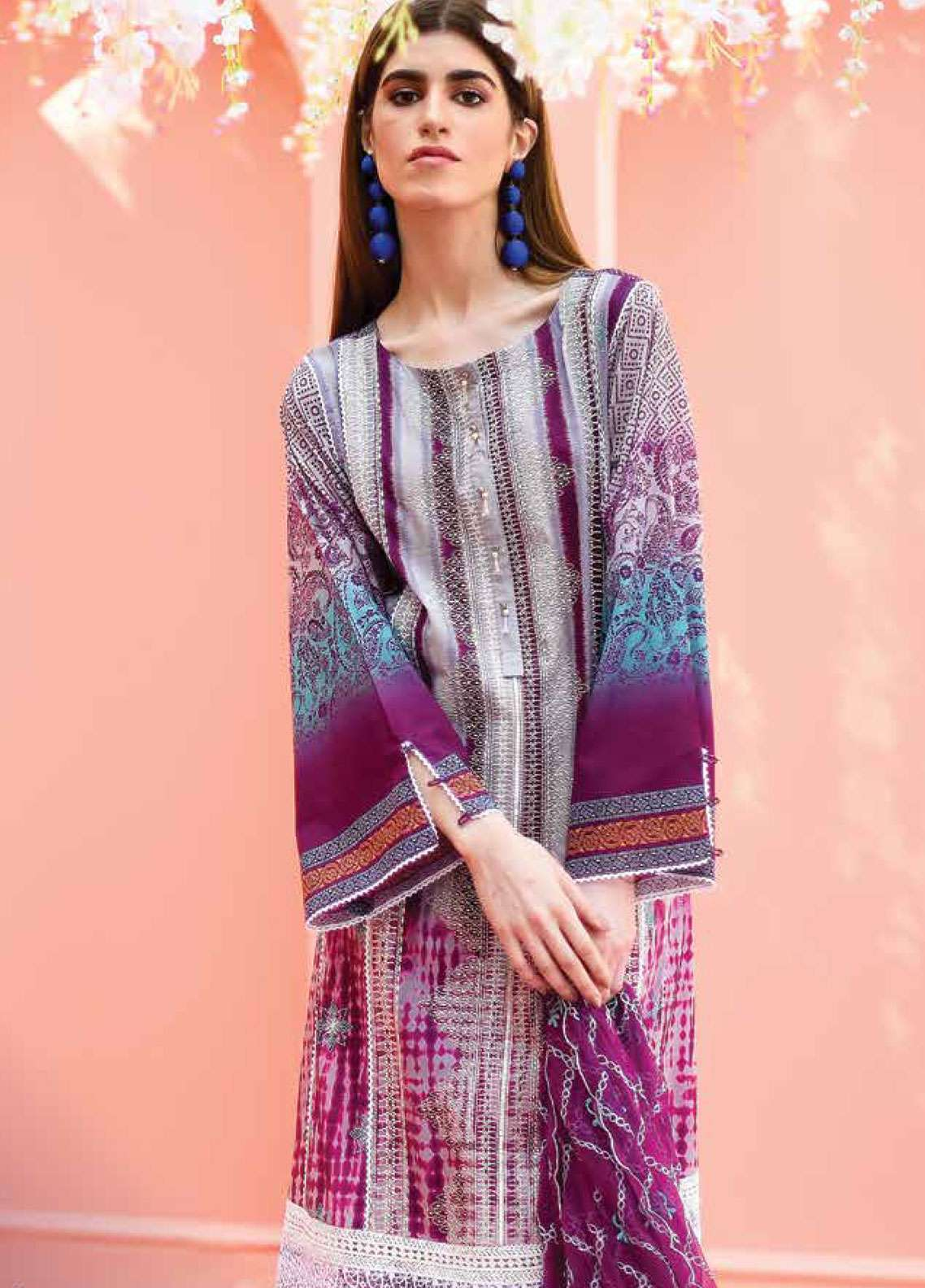 Lakhany Embroidered Lawn Unstitched 3 Piece Suit LSM19L LTD003 - Spring / Summer Collection