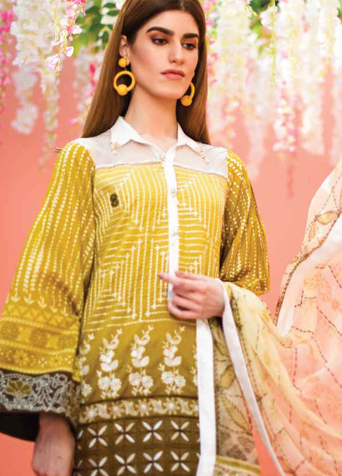 Lakhany Embroidered Lawn Unstitched 3 Piece Suit LSM19L LTD004 - Spring / Summer Collection