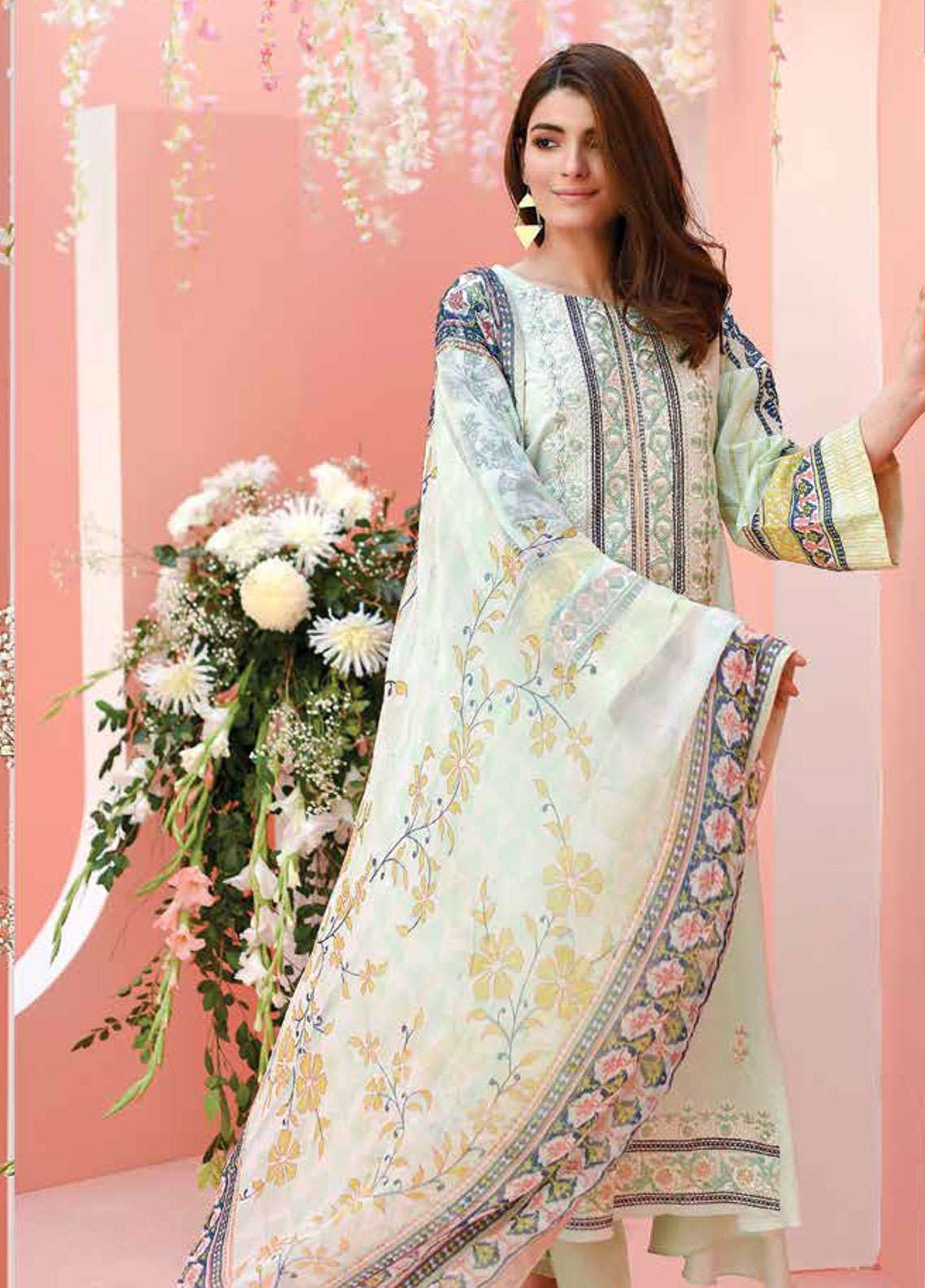 Lakhany Embroidered Lawn Unstitched 3 Piece Suit LSM19L LYD004 - Spring / Summer Collection