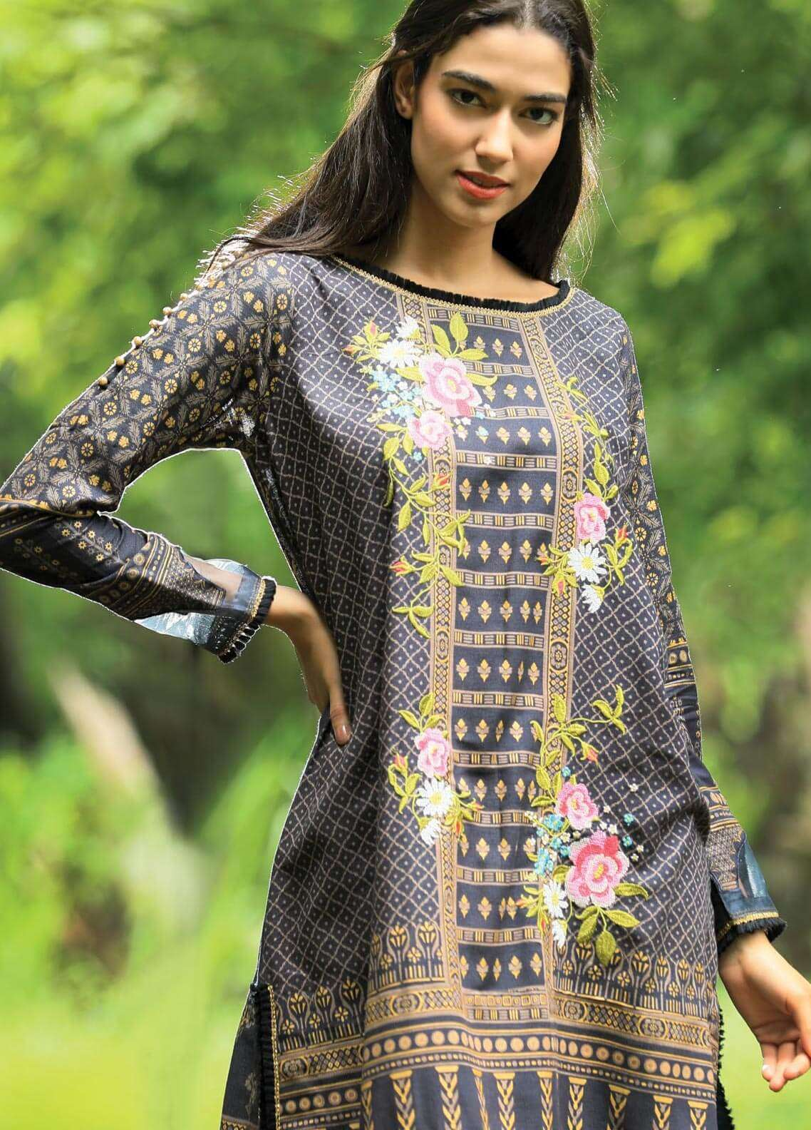 Lakhany Embroidered Khaddar Unstitched 3 Piece Suit LSM18P 992 - Winter Collection