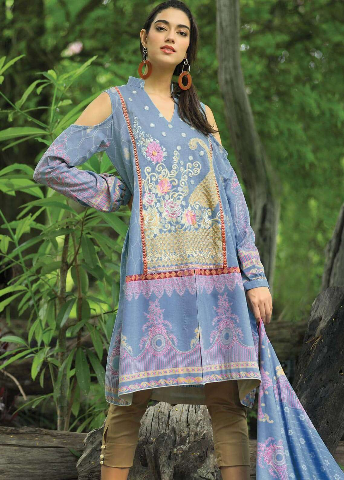 Lakhany Embroidered Khaddar Unstitched 3 Piece Suit LSM18P 995 - Winter Collection