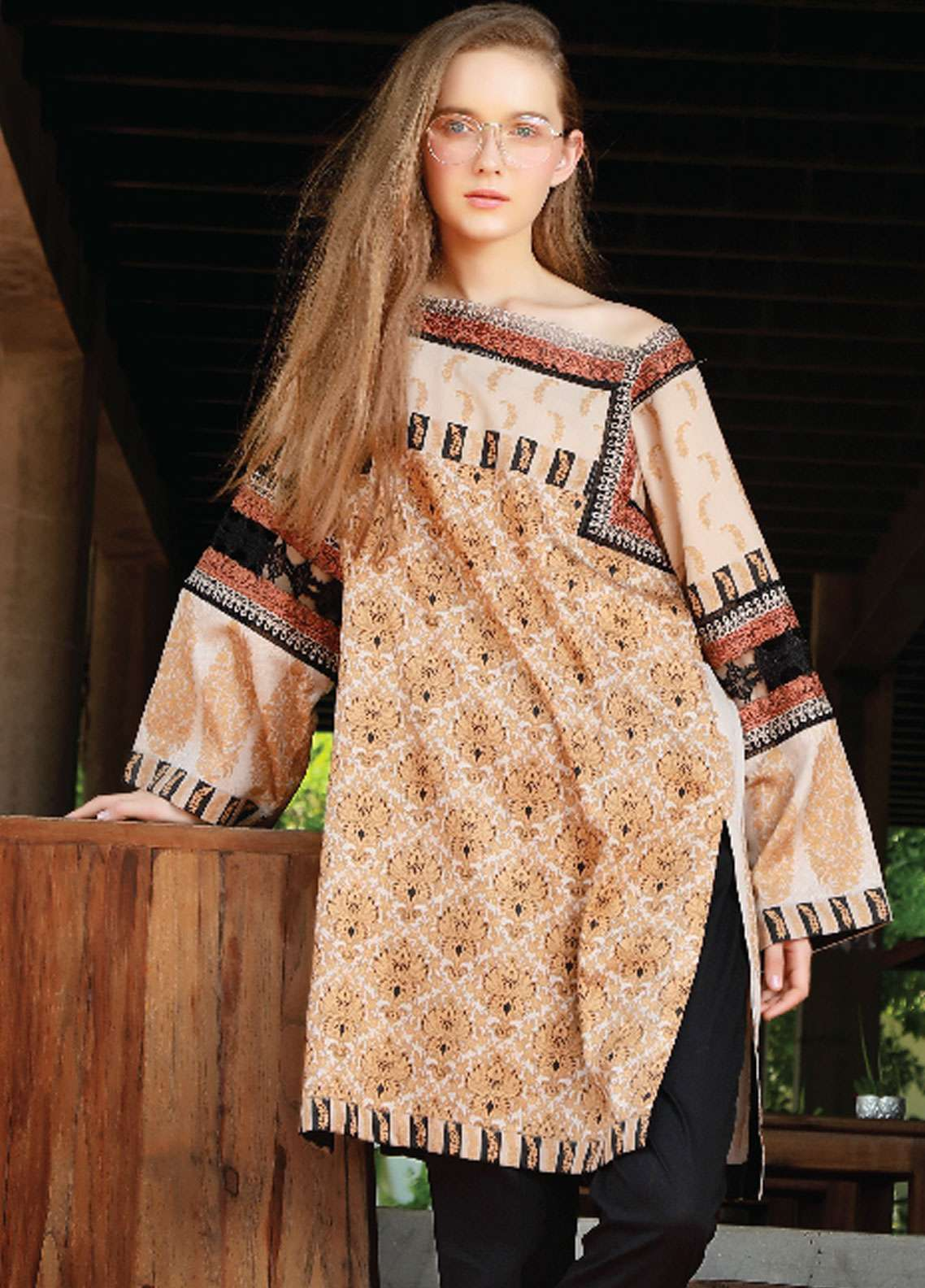 Lakhany Embroidered Cotton Unstitched Kurties LSM18WK 02 - Winter Collection