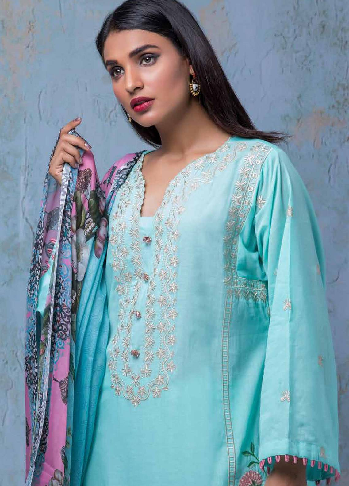 Maira Ahsan Embroidered Lawn Unstitched 3 Piece Suit MA18-L4 14 - Mid Summer Collection