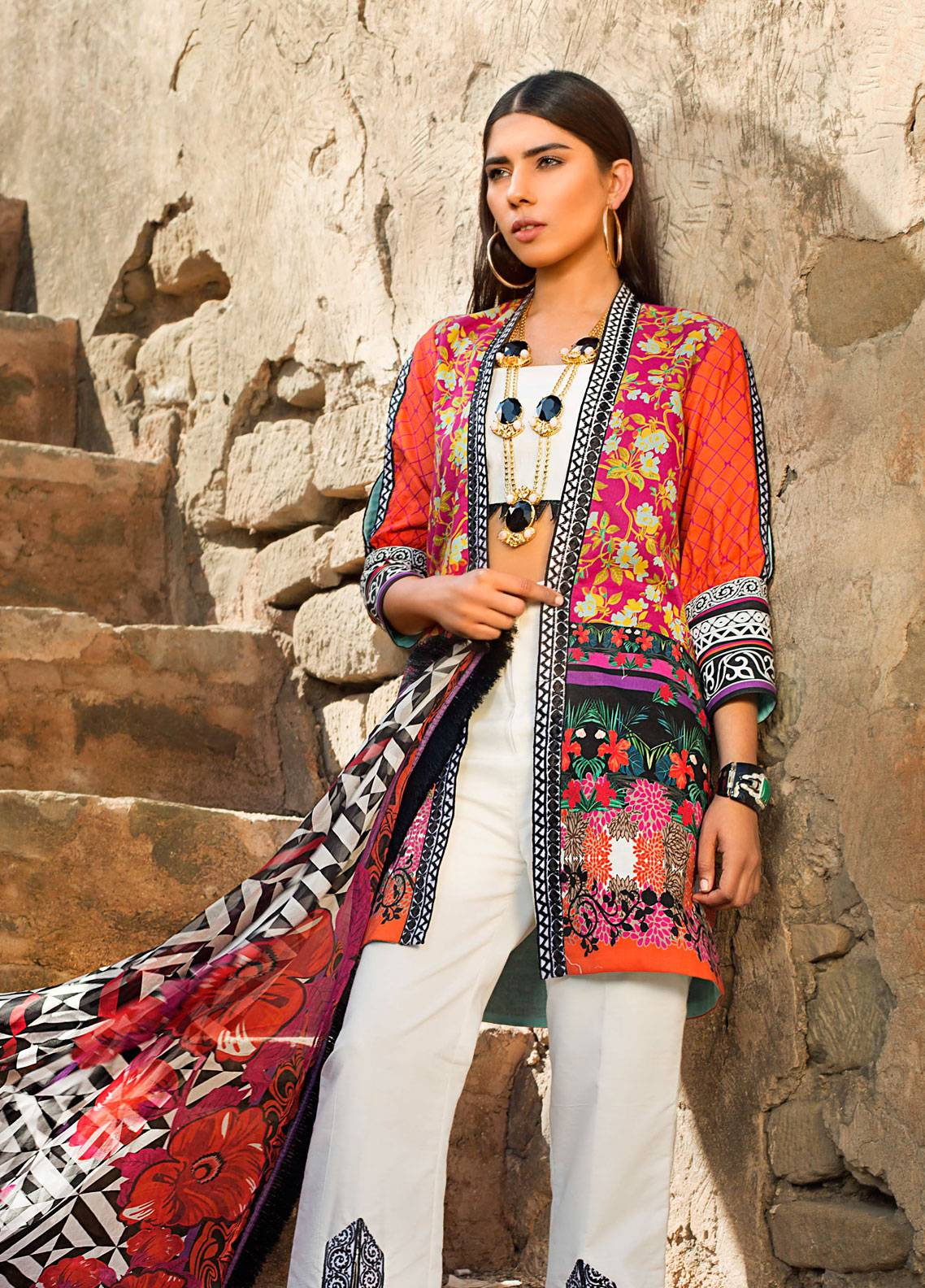 Maheen Karim by ZS Textile Embroidered Lawn Unstitched 3 Piece Suit MK19L 10 BURST - Spring / Summer Collection