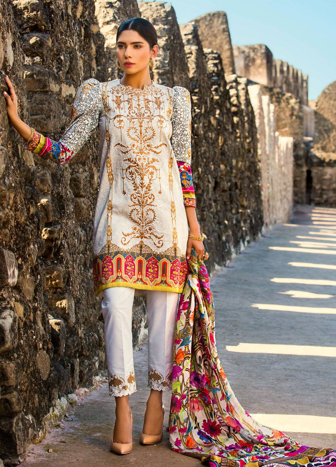 Maheen Karim by ZS Textile Embroidered Lawn Unstitched 3 Piece Suit MK19L 11 GILDED PASSION - Spring / Summer Collection