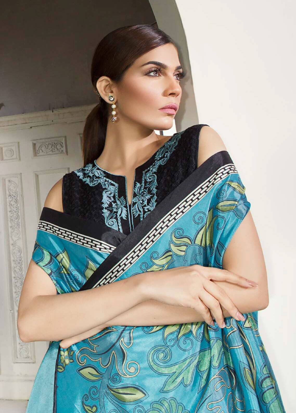 Mahgul by Al Zohaib Embroidered Khaadi Net Unstitched 3 Piece Suit MG18F 05 - Formal Collection