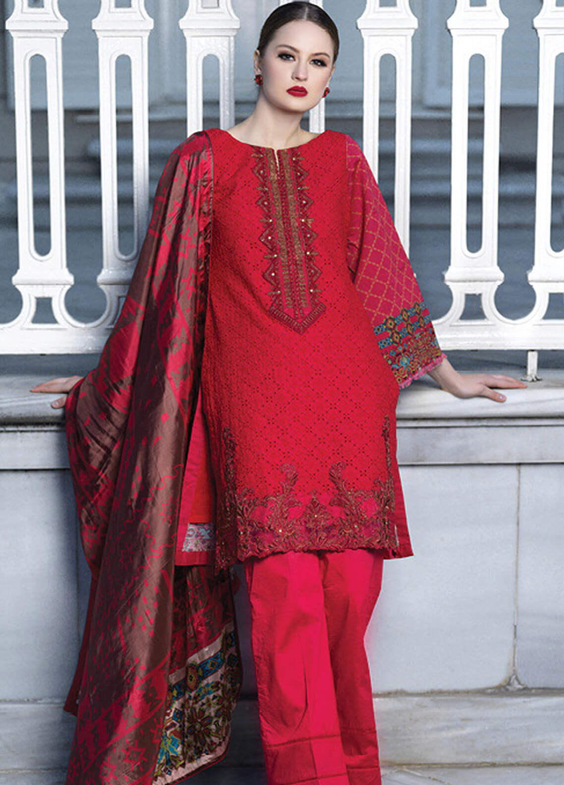 Mahiymaan By Al Zohaib Embroidered Lawn Unstitched 3 Piece Suit MAH19E 03 - Festive Collection