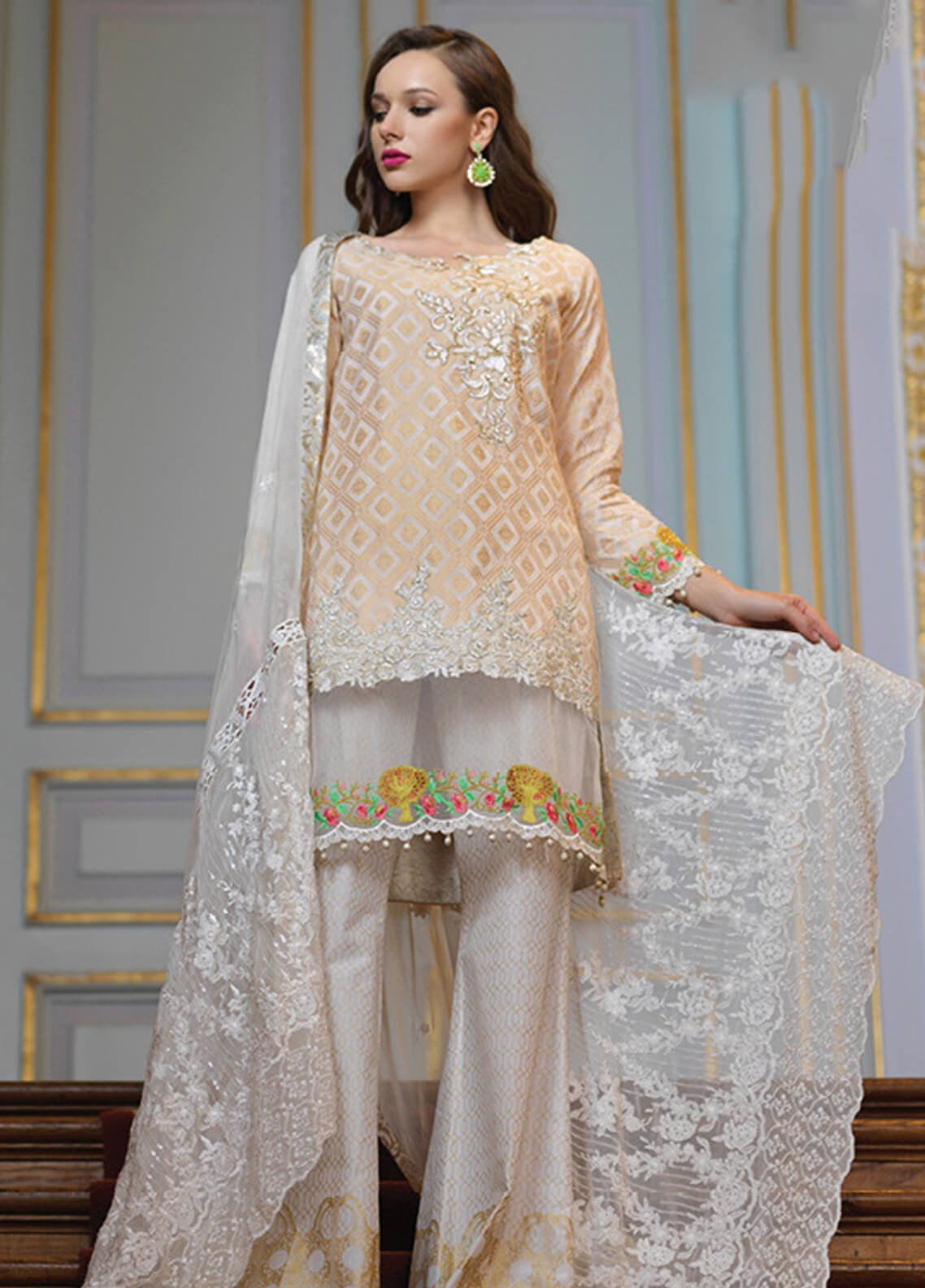 Mahiymaan By Al Zohaib Embroidered Jacquard Unstitched 3 Piece Suit MAH19E 05 - Festive Collection