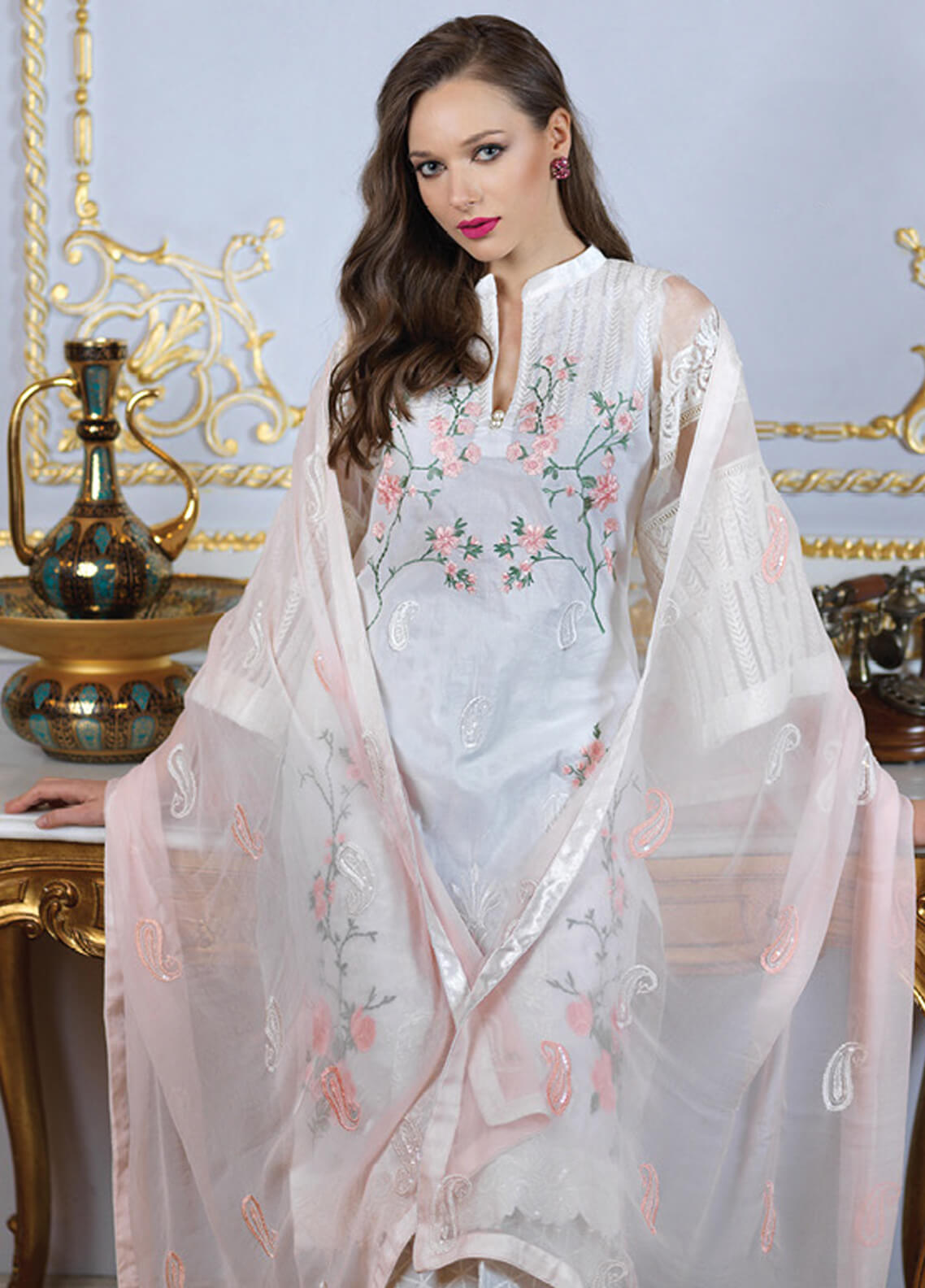 Mahiymaan By Al Zohaib Embroidered Lawn Unstitched 3 Piece Suit MAH19E 9A - Festive Collection