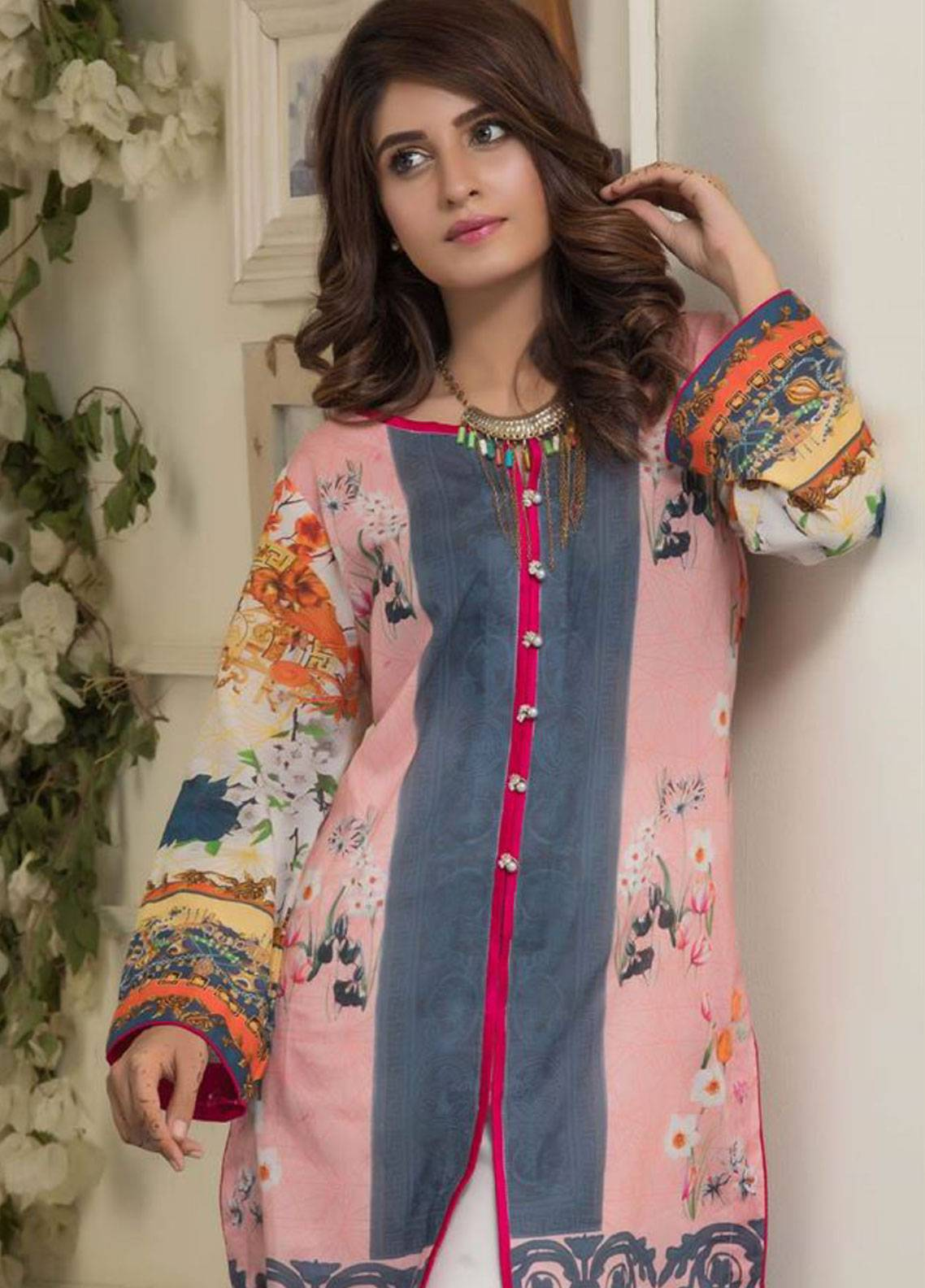 Maira Ahsan Printed Lawn Unstitched Kurties MAD19TC V14 06 - Mid Summer Collection