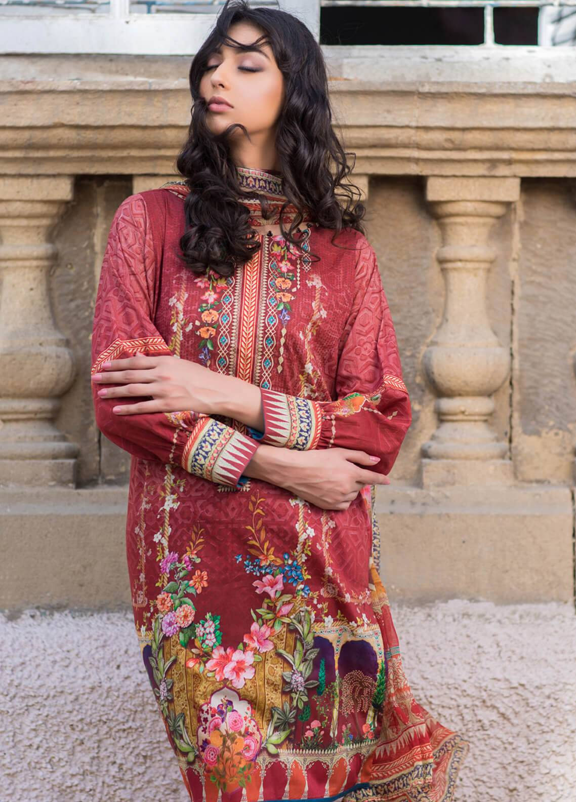 Malhar Printed Lawn Unstitched 3 Piece Suit ML19BL 15A - Spring / Summer Collection