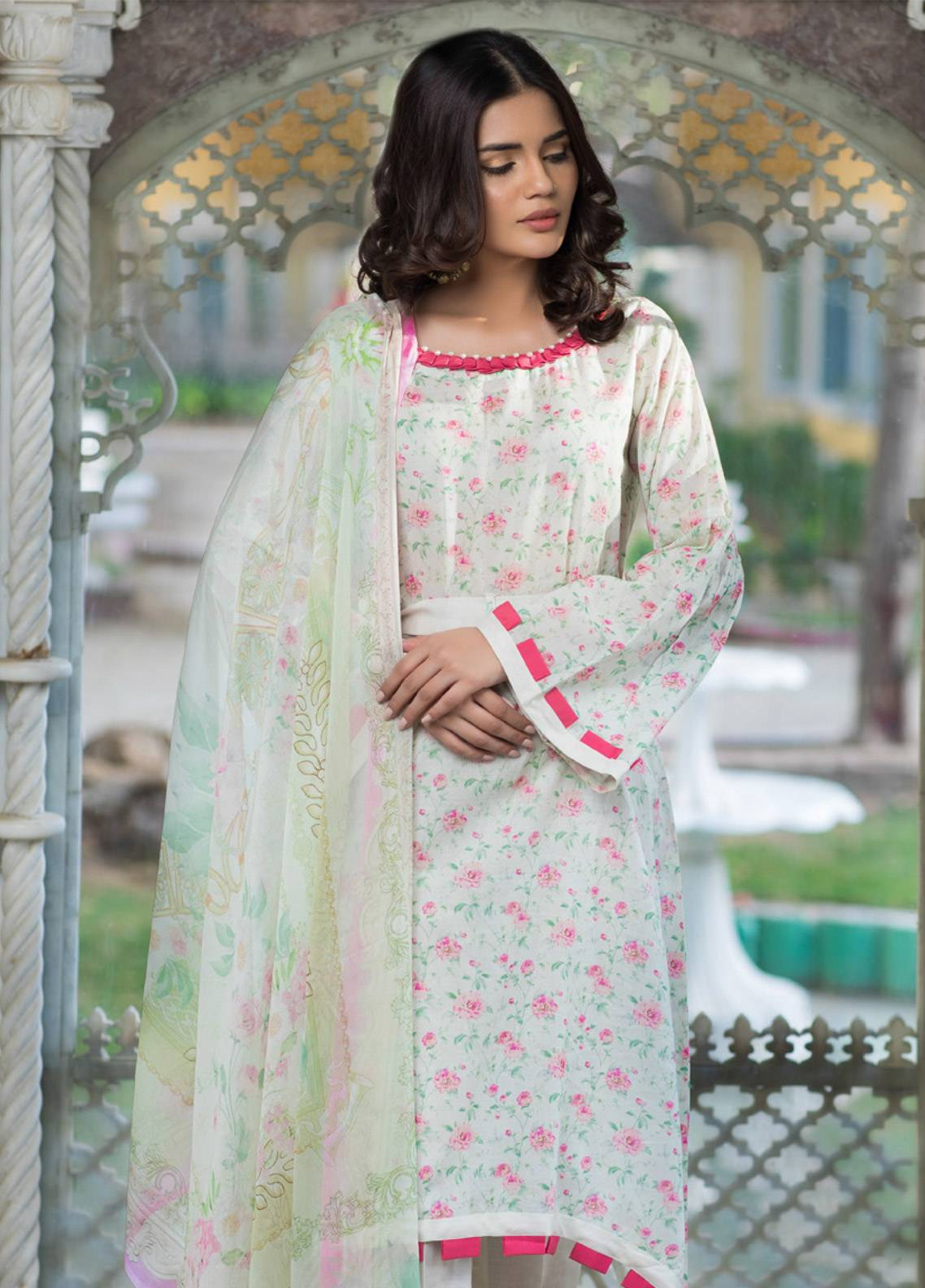 Malhar Printed Lawn Unstitched 3 Piece Suit ML19BL 3B - Spring / Summer Collection