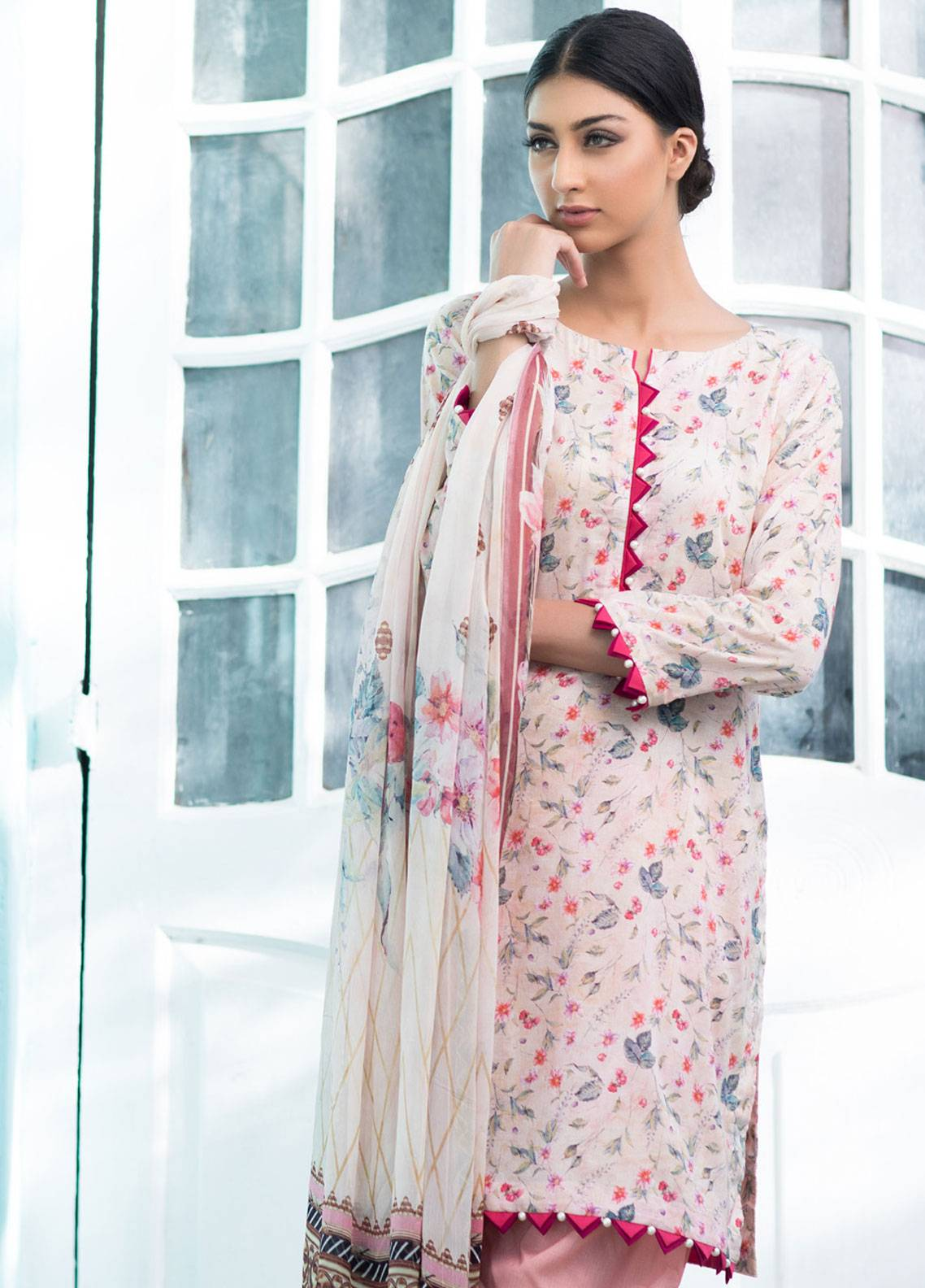 Malhar Printed Lawn Unstitched 3 Piece Suit ML19BL 4A - Spring / Summer Collection
