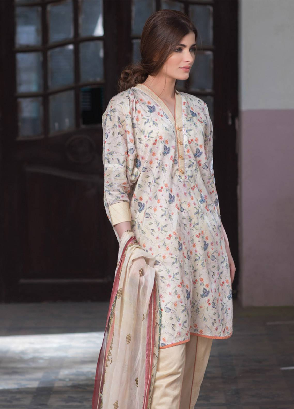 Malhar Printed Lawn Unstitched 3 Piece Suit ML19BL 4B - Spring / Summer Collection