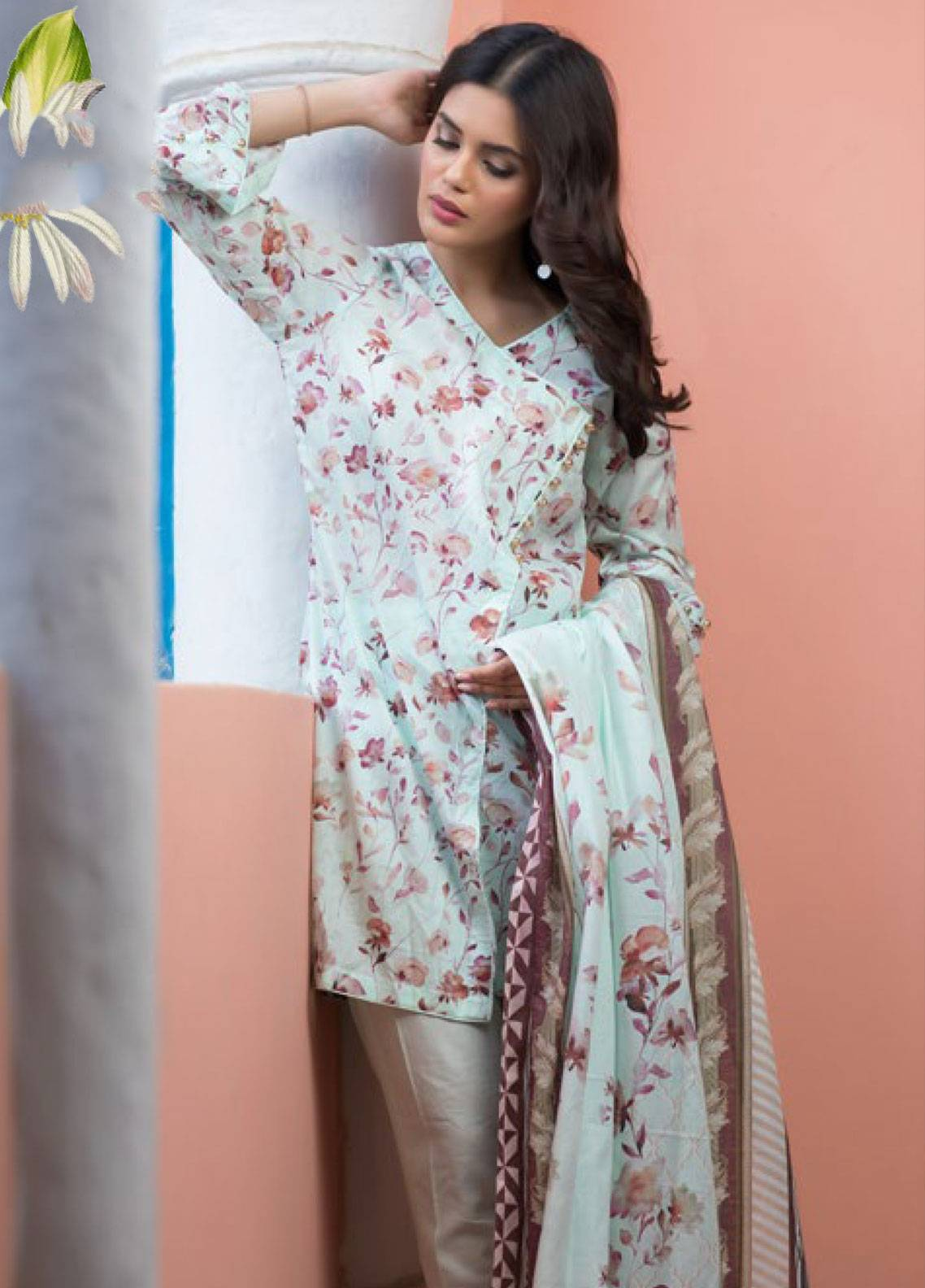 Malhar Printed Lawn Unstitched 3 Piece Suit ML19PL 70B - Spring / Summer Collection
