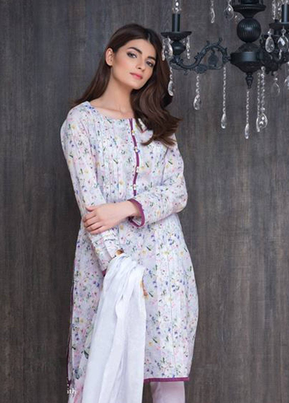 Malhar Printed Lawn Unstitched 3 Piece Suit ML19PL 9A - Spring / Summer Collection