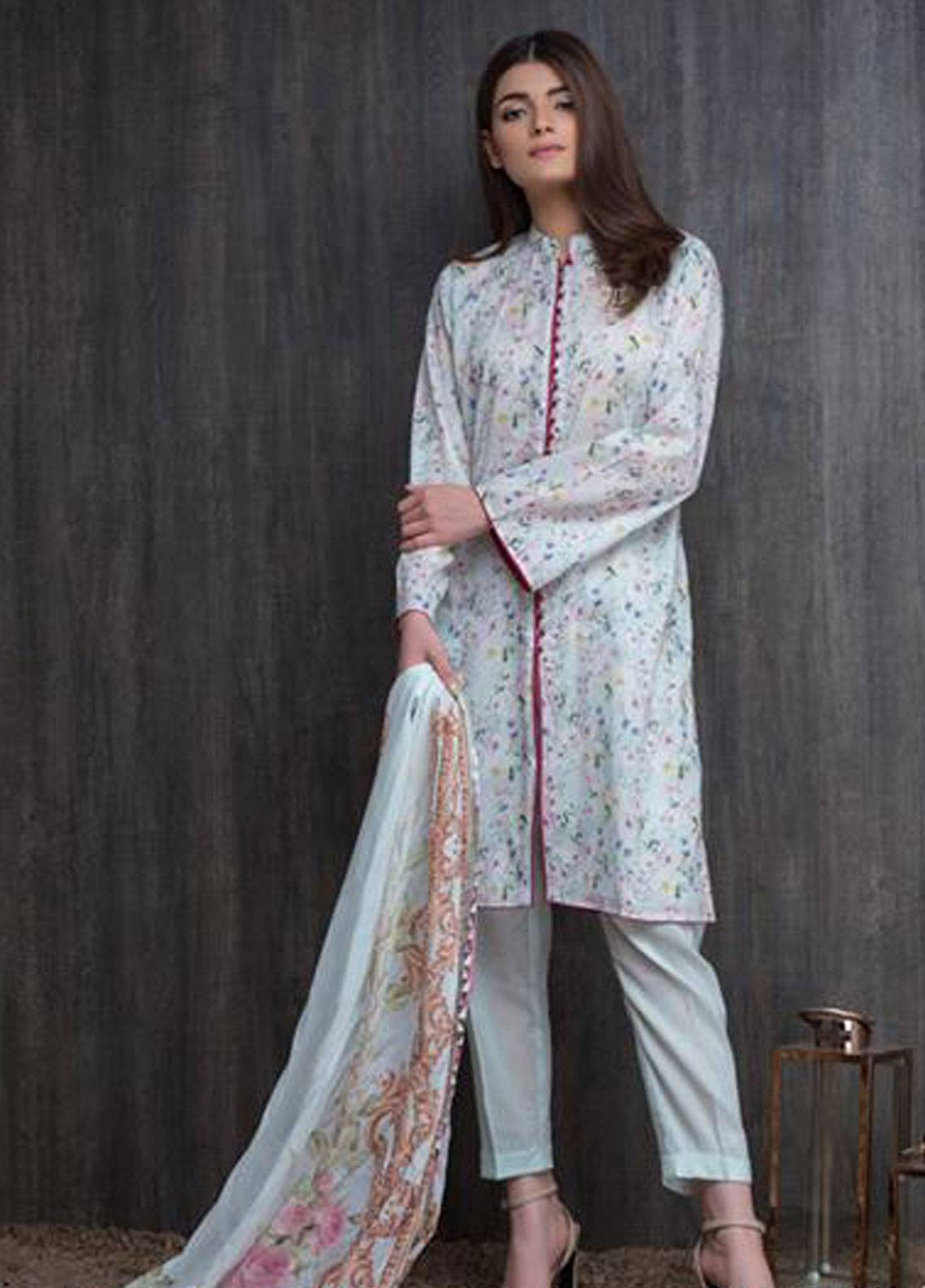 Malhar Printed Lawn Unstitched 3 Piece Suit ML19PL 9B - Spring / Summer Collection