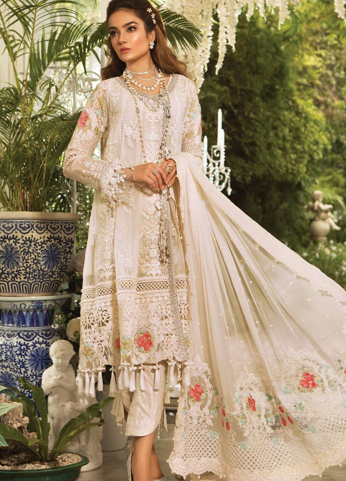 5e902e7108b Maria B Embroidered Organza Unstitched 3 Piece Suit MB19E 1604 - Eid  Collection