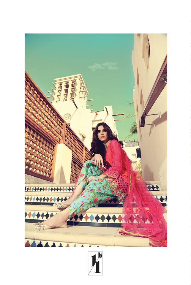 Maria B Embroidered Lawn Unstitched 3 Piece Suit MB17L 11B