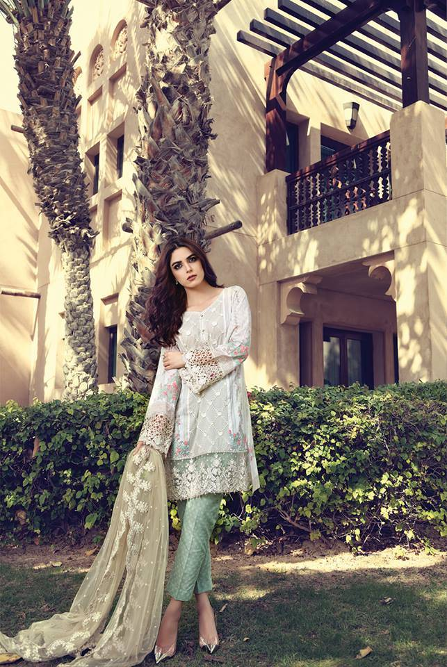 Maria B Embroidered Lawn Unstitched 3 Piece Suit MB17L 3A