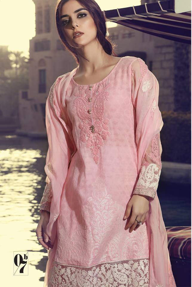 Maria B Embroidered Lawn Unstitched 3 Piece Suit MB17L 7B