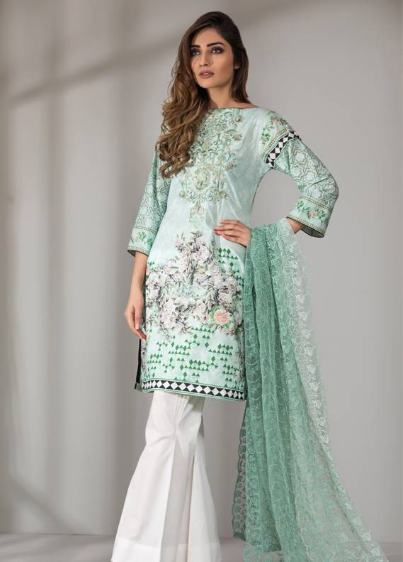Mahrukh By ZS Embroidered Cotton Unstitched 3 Piece Suit ME18D 05