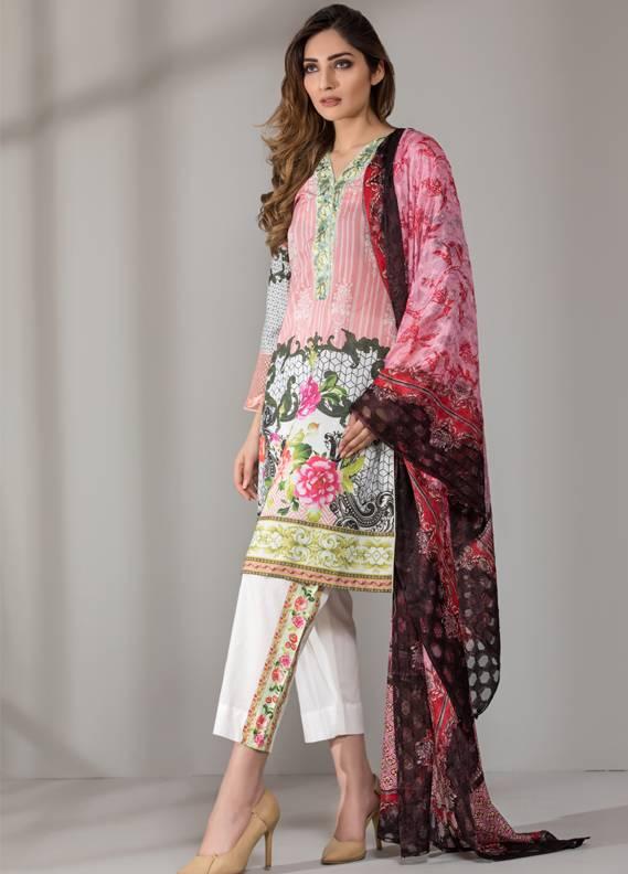 Mahrukh By ZS Embroidered Cotton Unstitched 3 Piece Suit ME18D 09