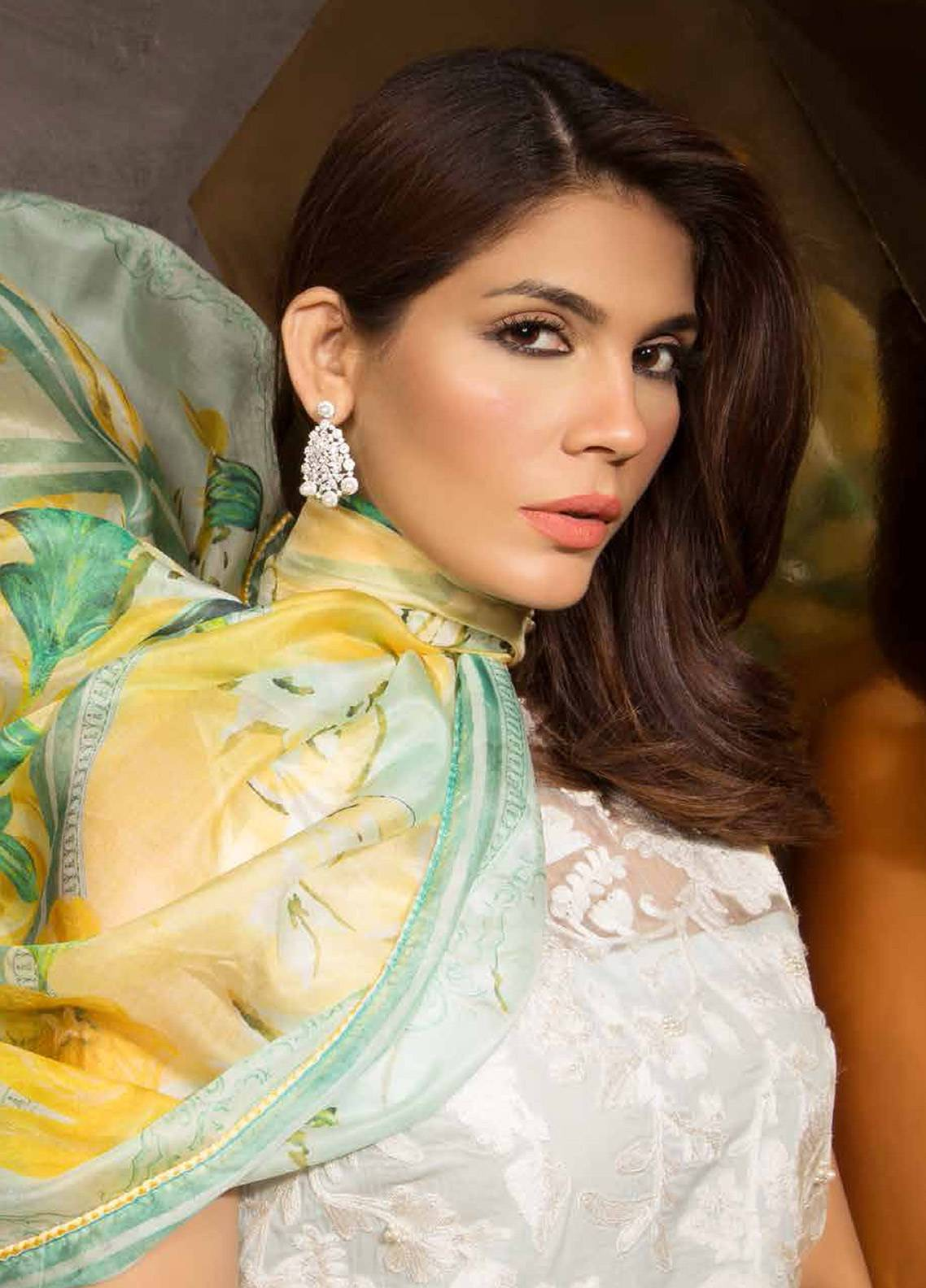 Mahgul by Al Zohaib Embroidered Lawn Unstitched 3 Piece Suit MG18E 05 - Eid Collection