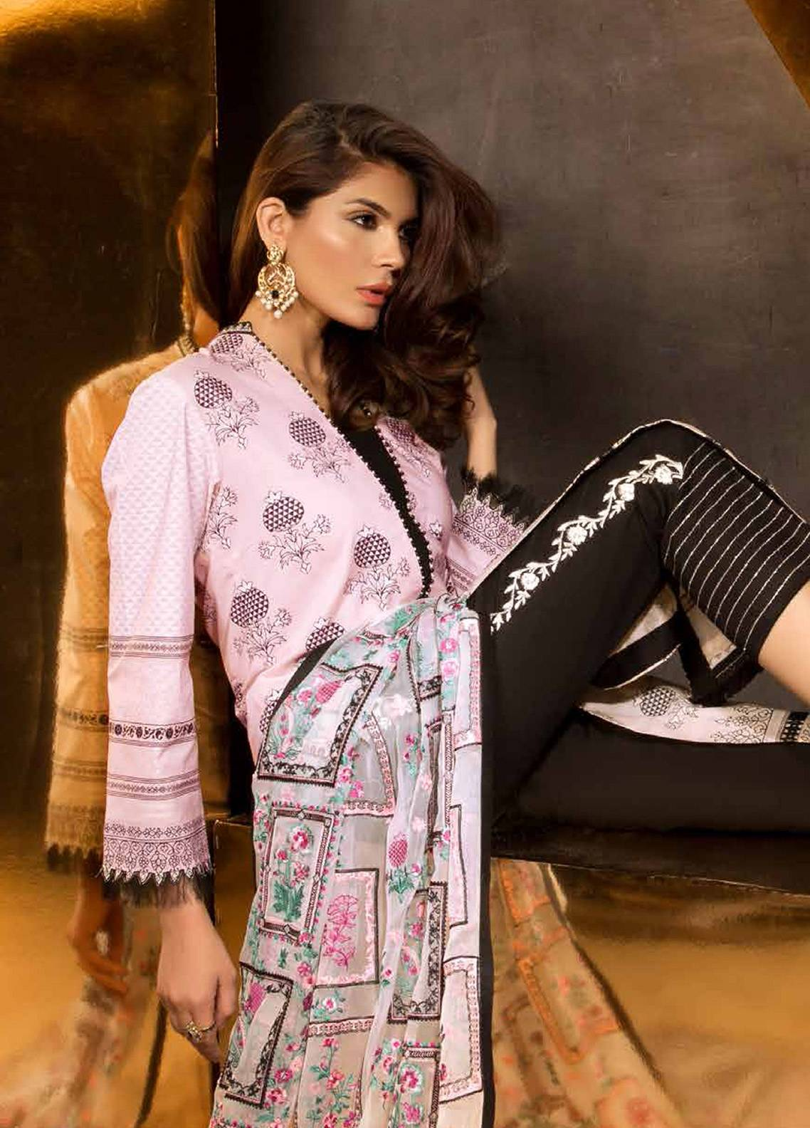 Mahgul by Al Zohaib Embroidered Lawn Unstitched 3 Piece Suit MG18E 06 - Eid Collection