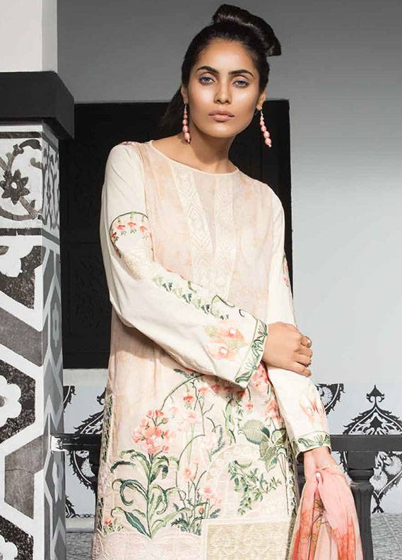 Mahgul by Al Zohaib Embroidered Lawn Unstitched 3 Piece Suit MG18L 9B - Spring / Summer Collection